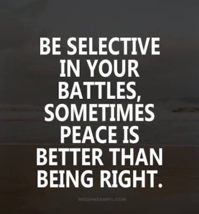 Peace or being right?